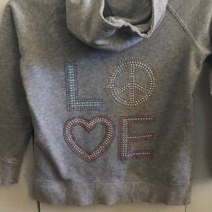 "Other - Gray ""LOVE"" hoodie"